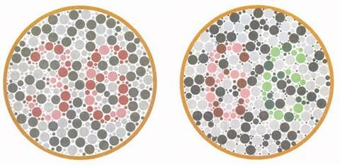 色盲检查图、色弱测试图及答案